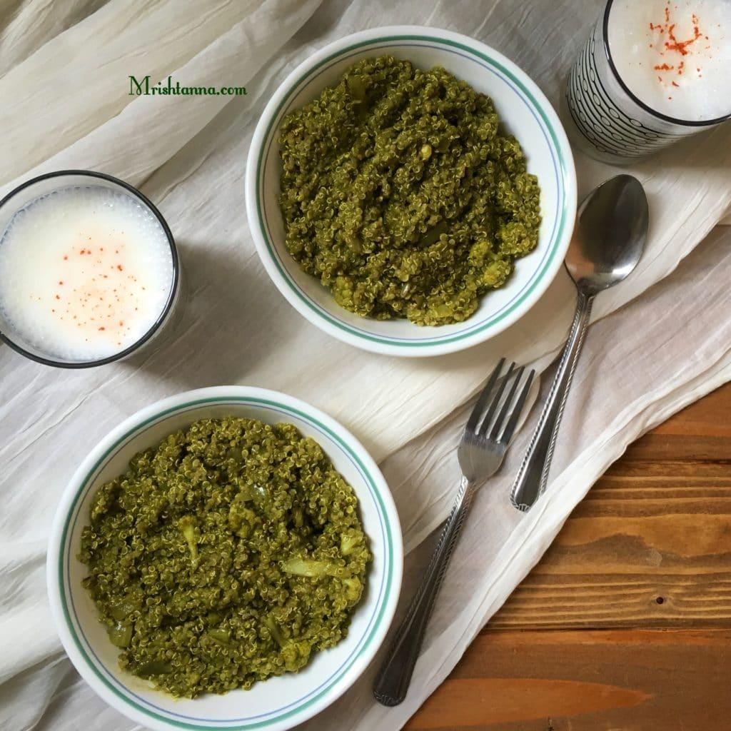 spicy spinach quinoa