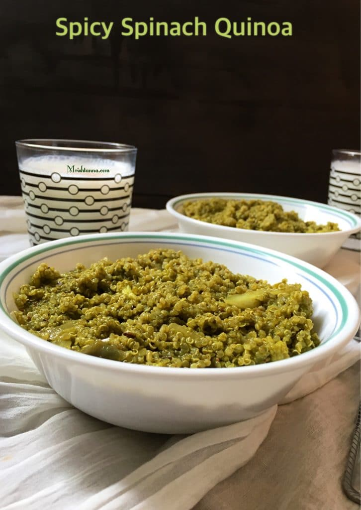 Spicy spinach quinoa simple sumptuous cooking forumfinder Image collections