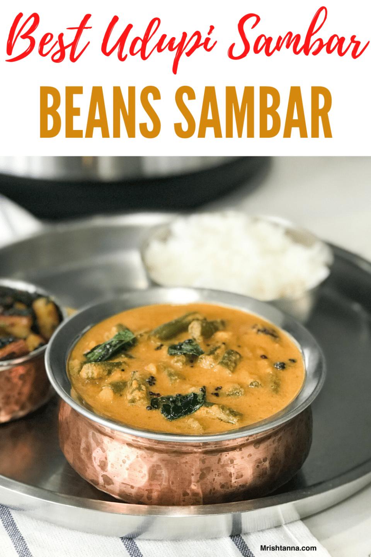 Beans Sambar In copper pot