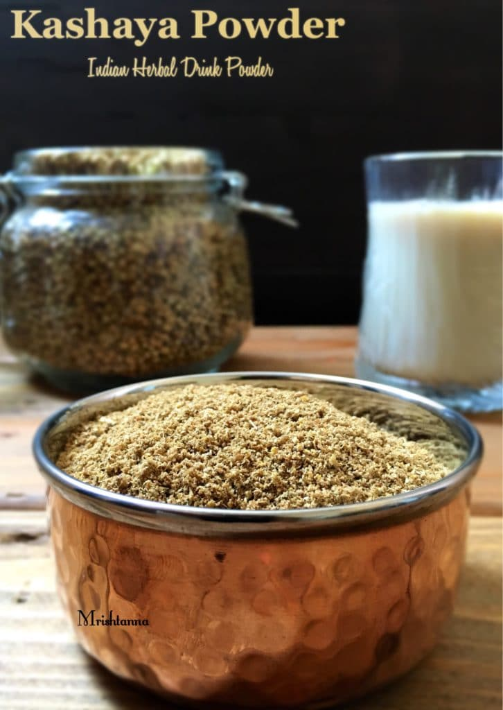 Kashya powder is on the bowl