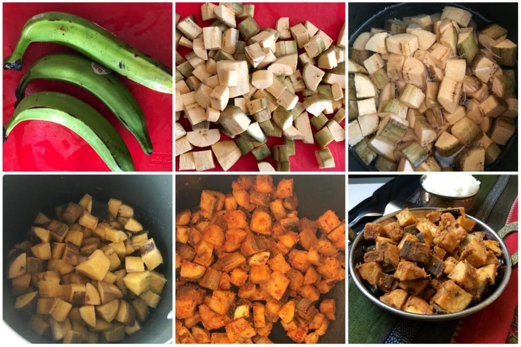 Plantain stir fry