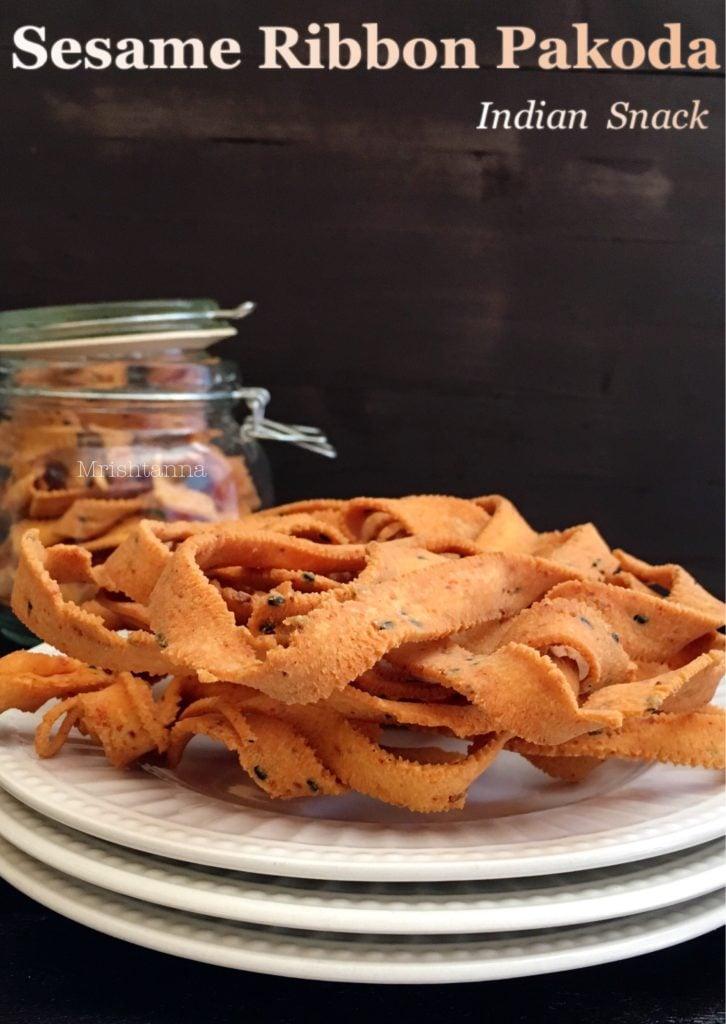 A plate of fried ribbon murukku