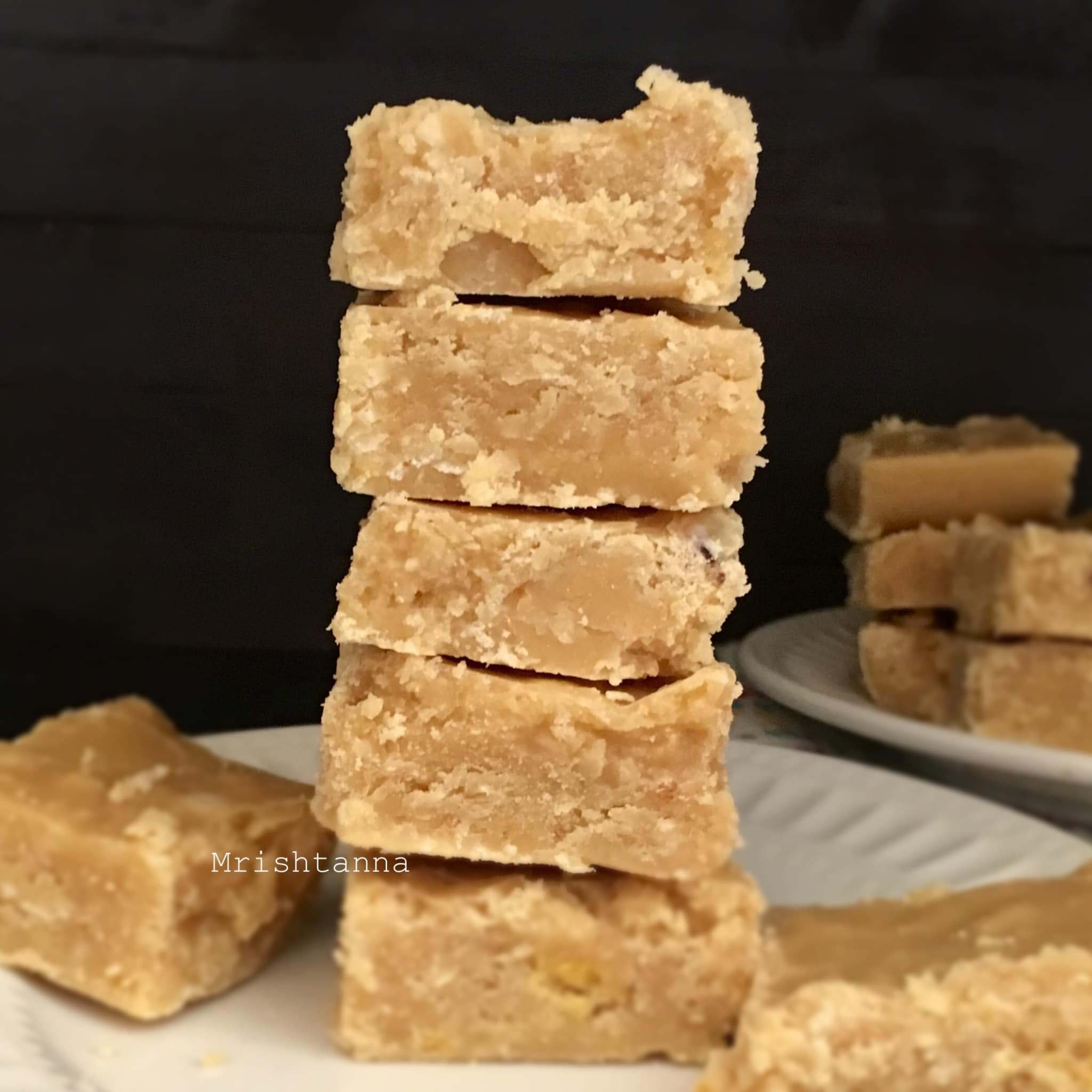 Vegan 7 Cups Barfi-Gram Flour Fudge