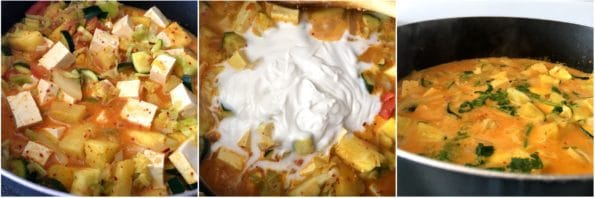 A close up of food, with Curry and Pineapple