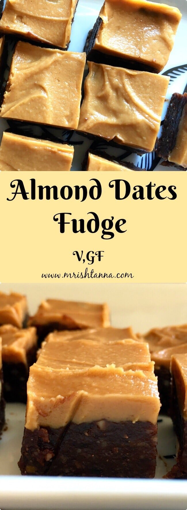 A piece of almond fudge on the plate