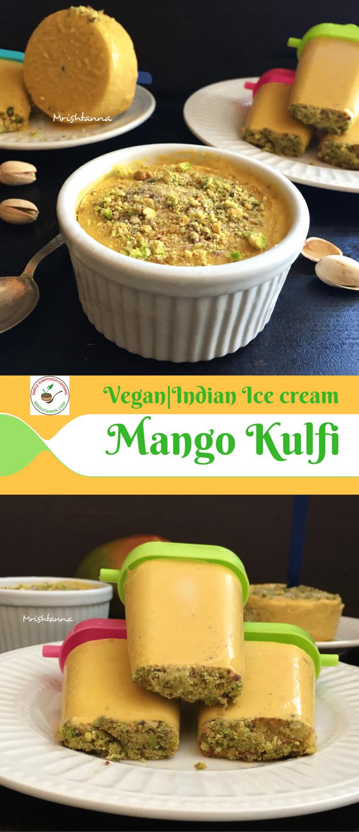 Vegan Mango Kulfi - Indian Best Ice Cream Recipe