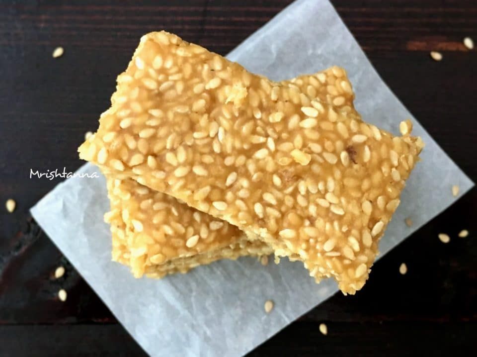 CALCIUM RICH SNACK - SESAME BAR RECIPE