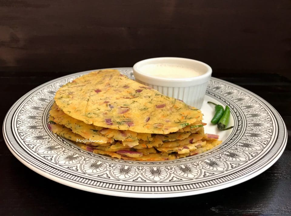 Rice Flour Flat Bread - Akki Roti Recipe