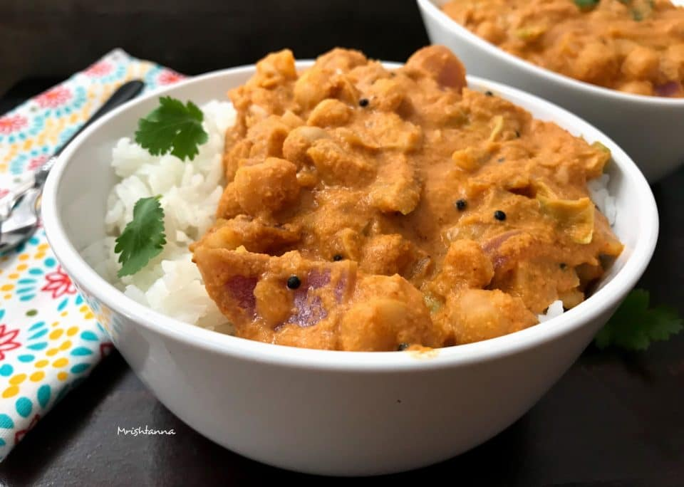 Cabbage Chickpeas Curry