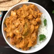 A plate of food, with Curry