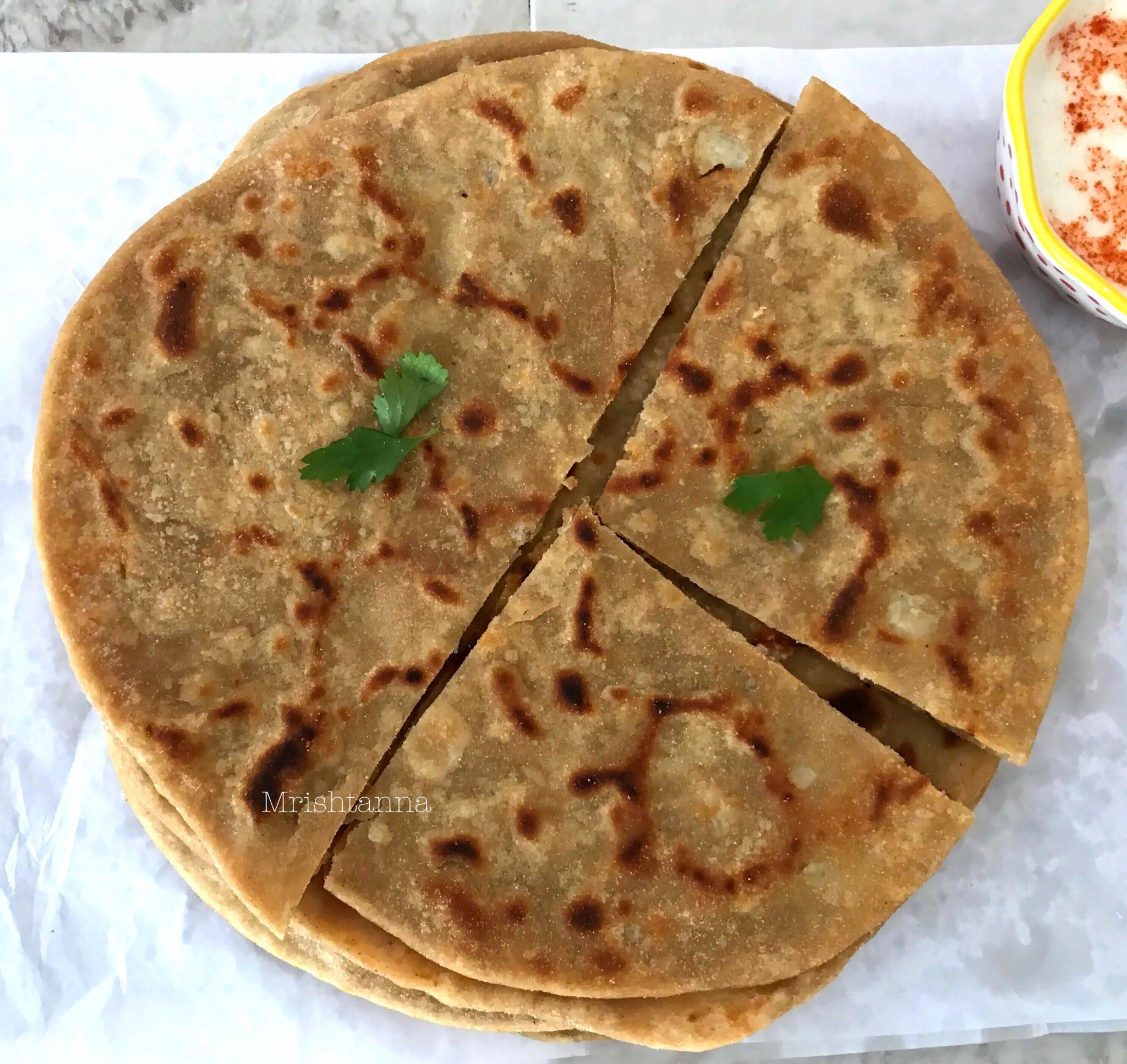 Cauliflower Stuffed Flatbread (Gobi Paratha)