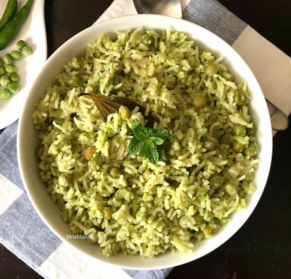 Instant Pot Cilantro Peas Rice