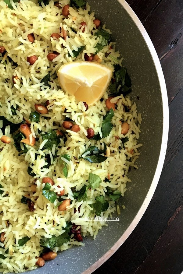 Nutty Lemon Rice Recipe