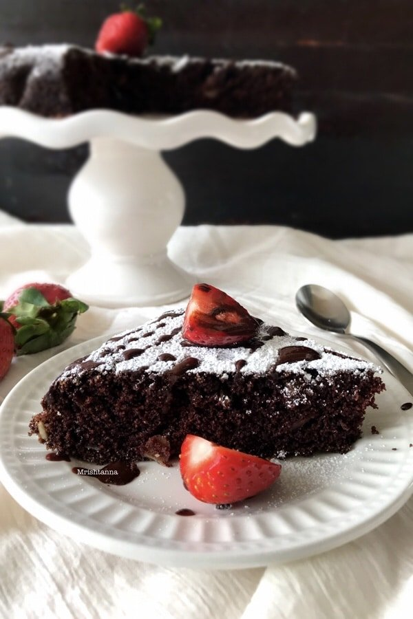 Chocolate Semolina Cake