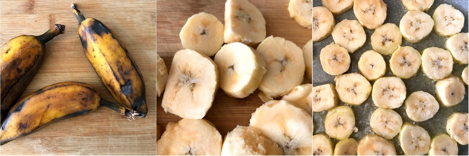 sliced ripe plantain