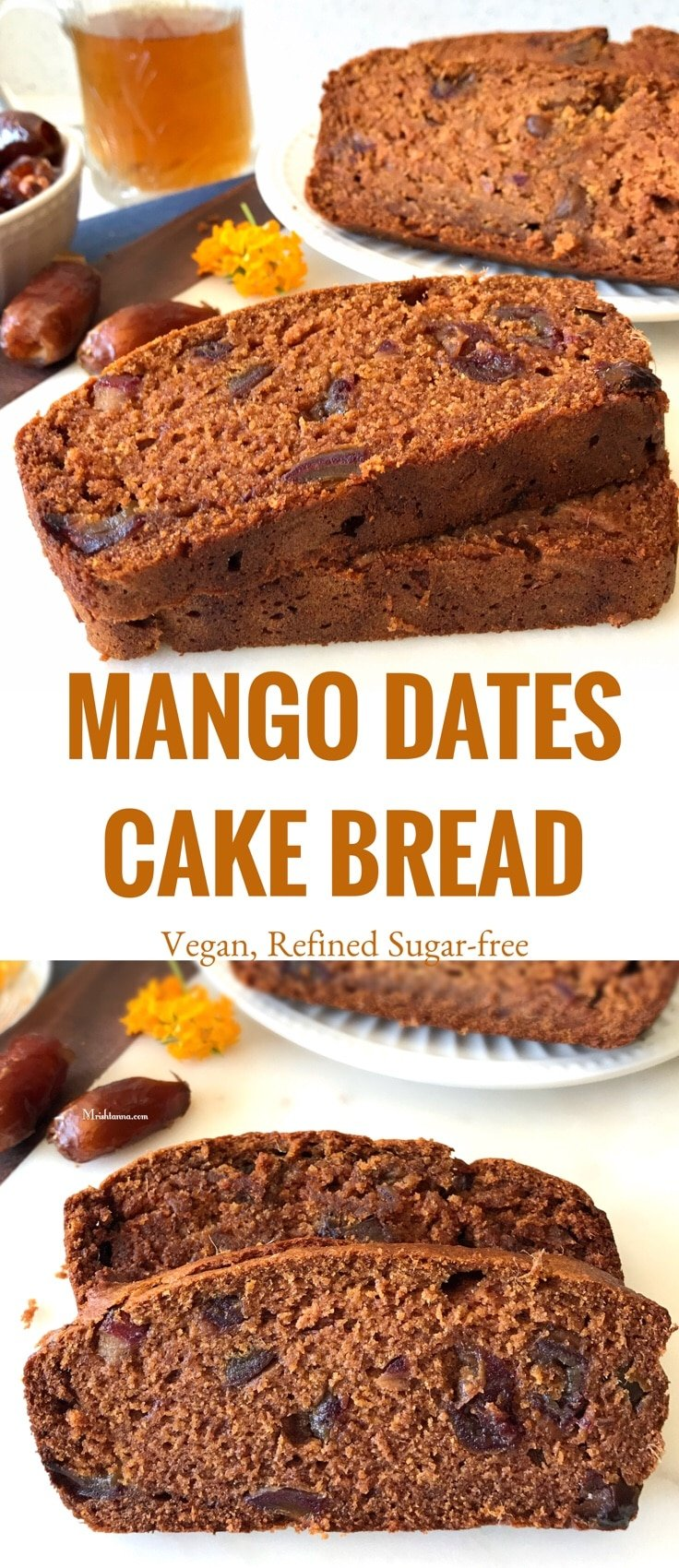 Mango Dates Cake Bread