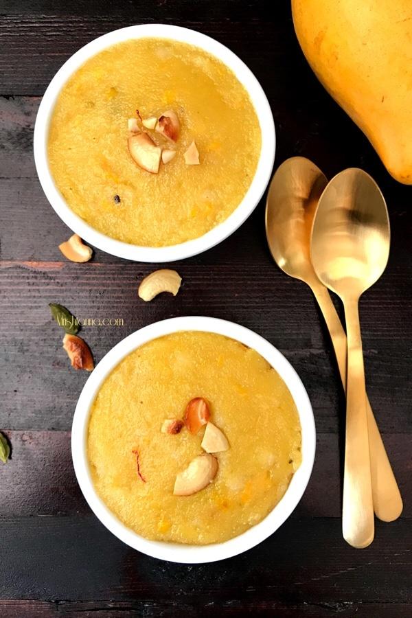 Mango Rava Kesari - Mango Semolina Pudding