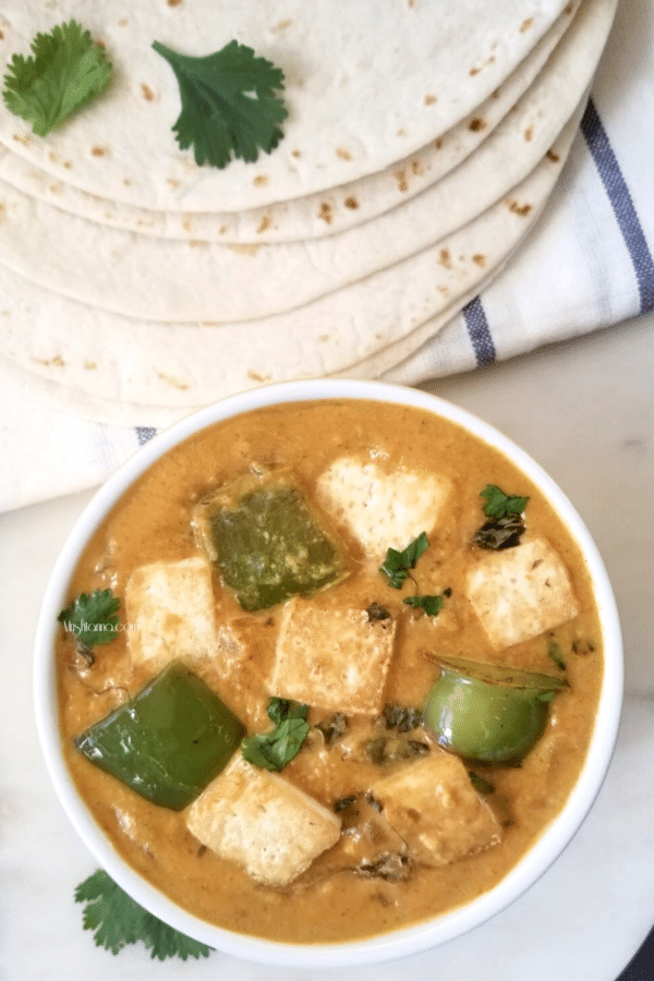 Vegan Tofu Bell Pepper Curry