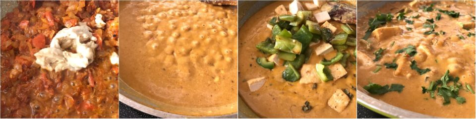 A close up of food, with Tofu and Curry