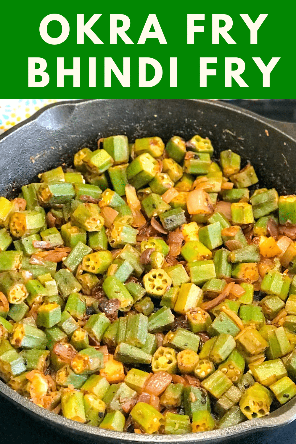 A pan filled with food, with Okra and Spice