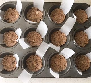Almond Crust in Cupcake Pan