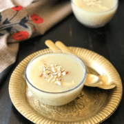 A cup of  Kheer and Pudding