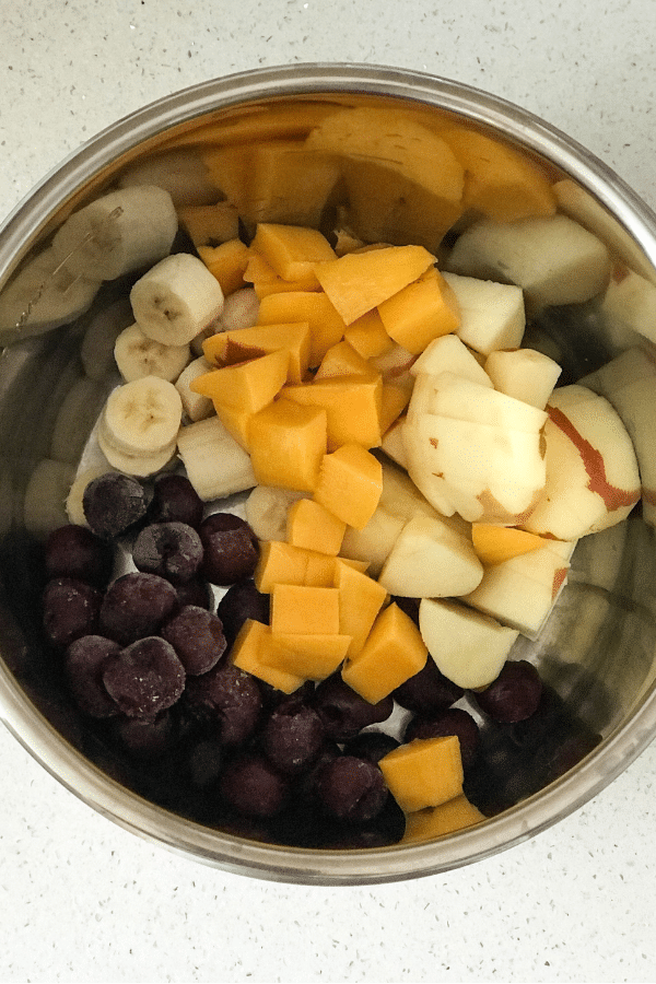 Mixed Fruit are in Instant Pot