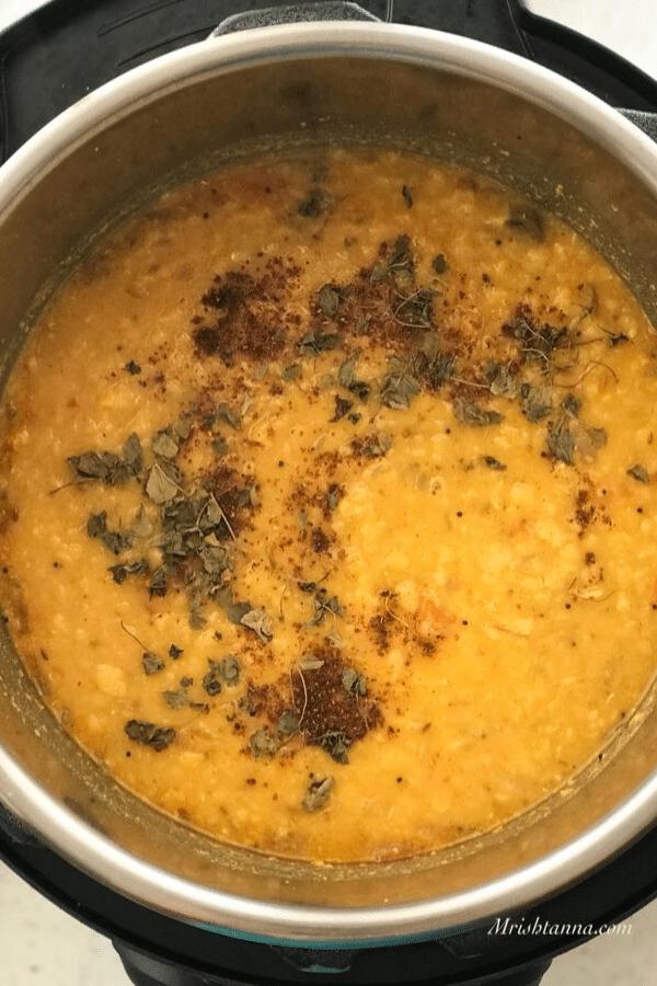 Dal fry Instant Pot
