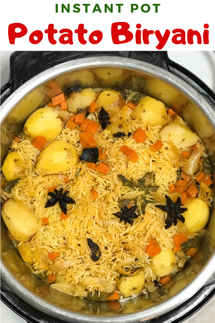 Potato Biryani - Instant Pot