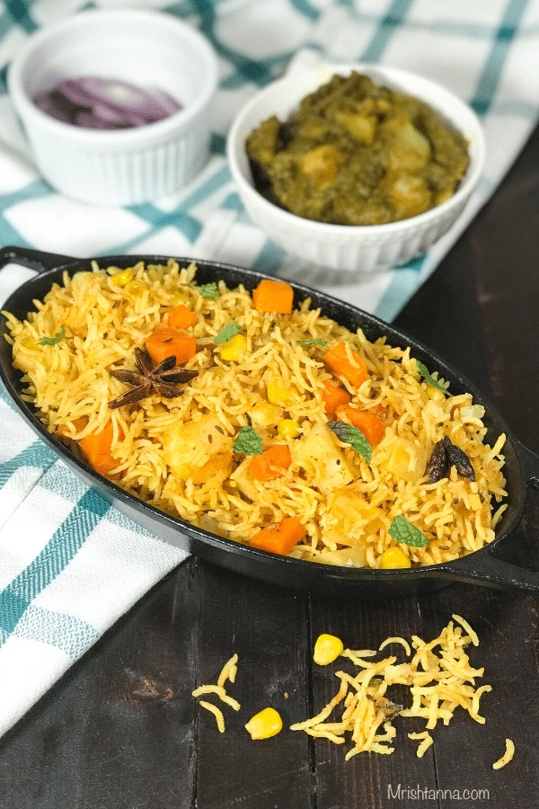 Veg Biryani Instant Pot Vegetable Biryani Simple Sumptuous Cooking