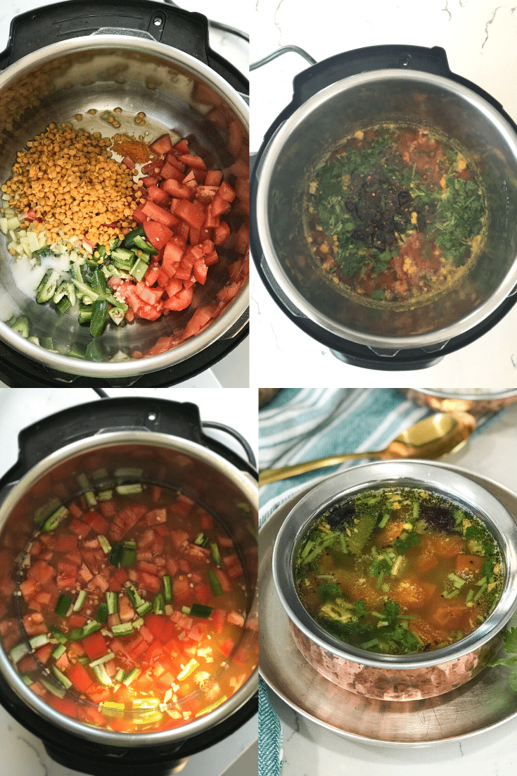 Step By step procedure for Instant Pot Rasam