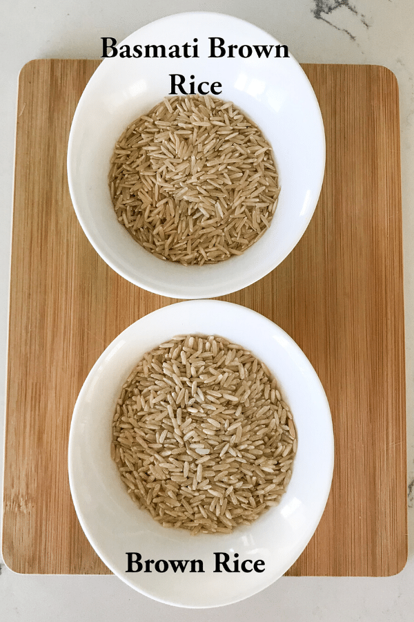 A close up of a bowl of brown rice
