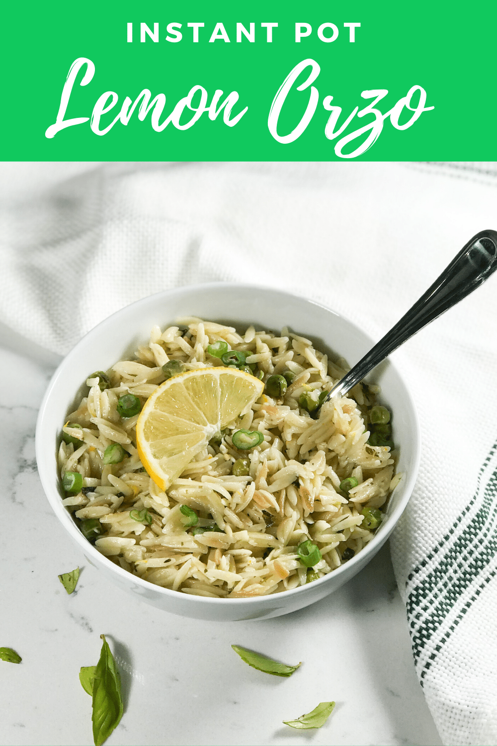 Lemon Orzo With Peas (Instant Pot)