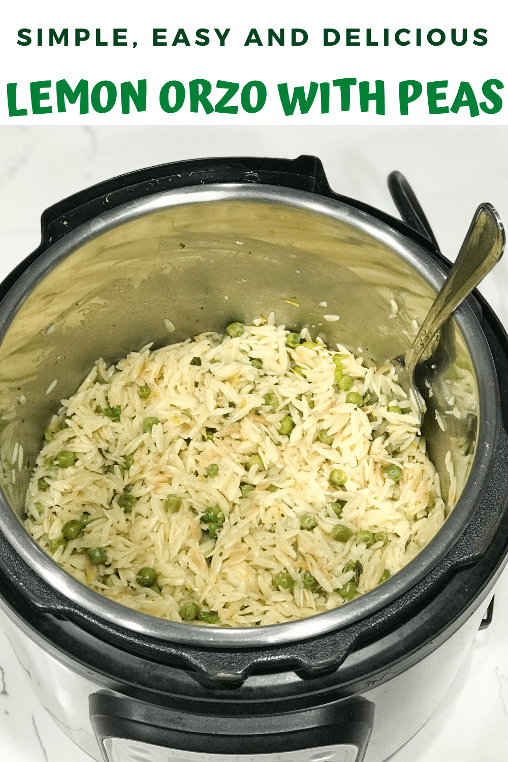 Lemon Orzo With Peas - Instant Pot Orzo