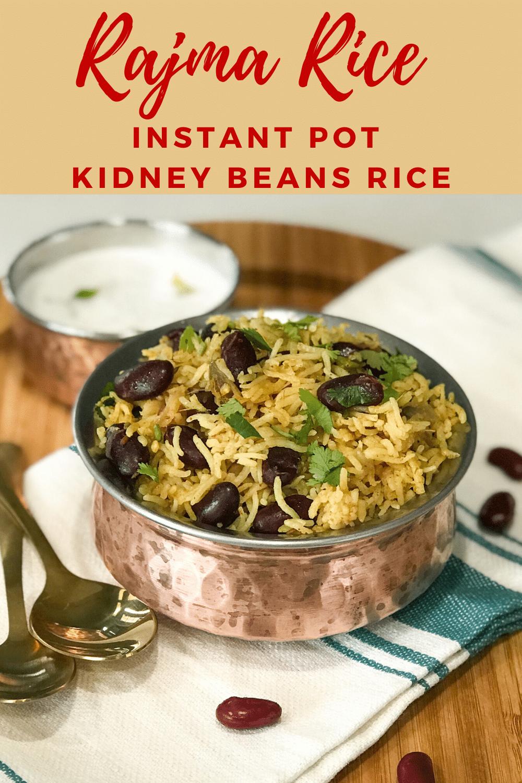 Rajma Rice - Instant Pot Kidney Beans Rice