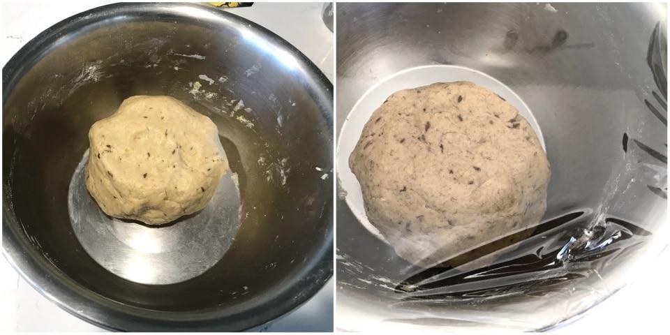 A pot with puri dough