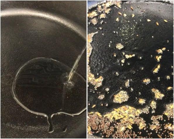 oil and cumin