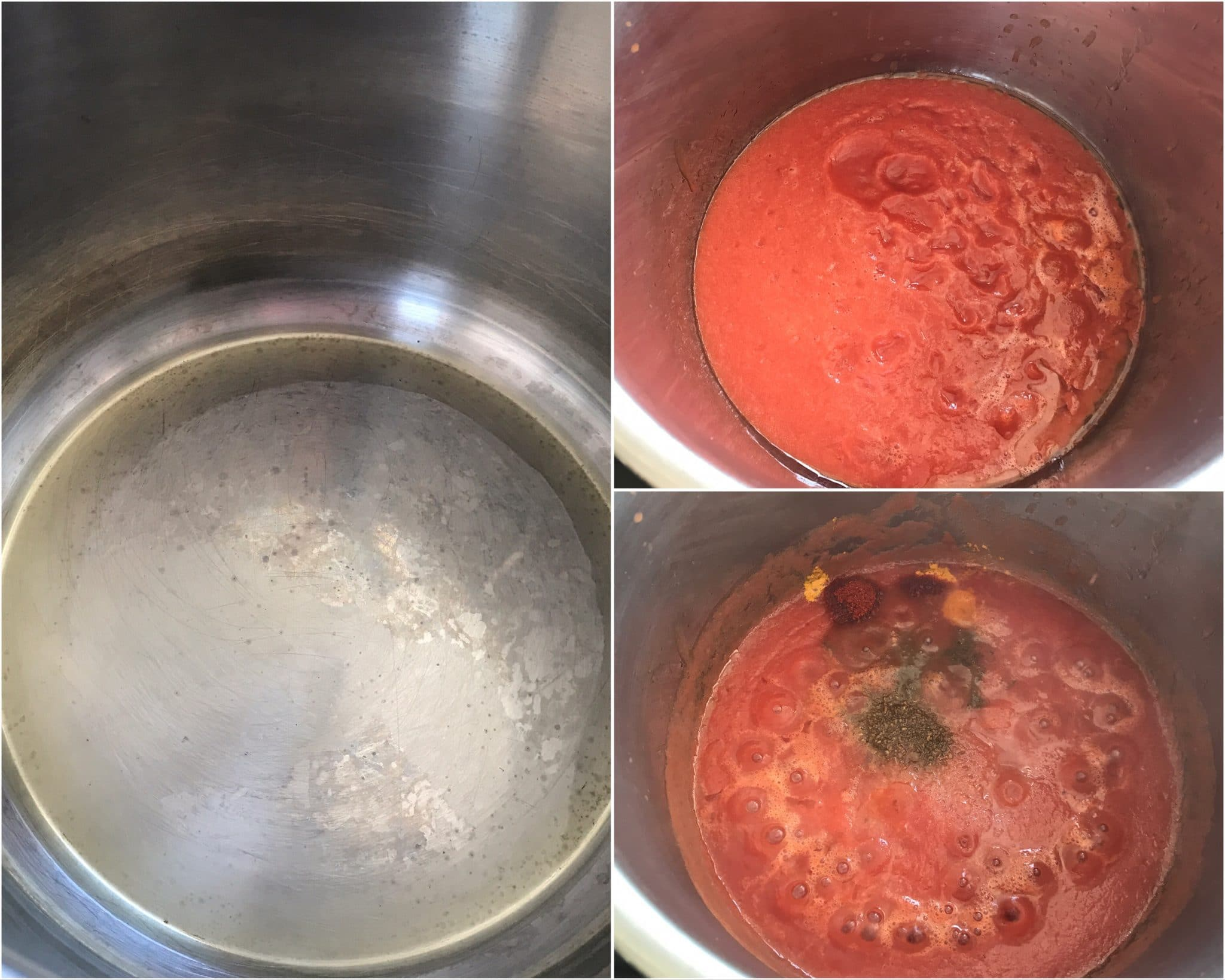 A box filled with Pot and tomato sauce